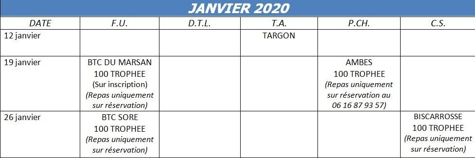 Calendrier Ball Trap De Campagne 2021 Calendriers annuels   Ball Trap Aquitaine